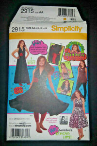 Simplicity Pattern 2915 Gretchen Collection Teen Sewing Sizes 8 16 Knit Dress $5.50