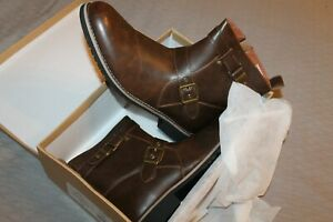 NEW IN BOX Polar Fox size 13 brown faux leather boots side zip