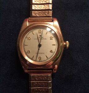 Rolex Watch Oyster Perpetual Bubbleback Chronometer 18K Rose Gold Vintage1947 48 $4999.00