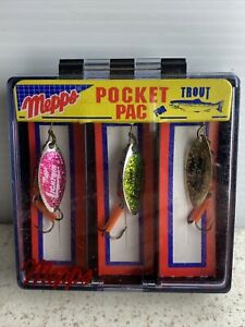 New Sealed Mepps Trout 3 Spinner Pocket Pack FREE SHIPPING