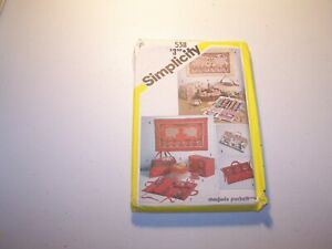 Simplicity Sewing Pattern 5311 String Quilted Sewing Basket Liner Tote Bag 1980s $6.30