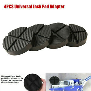 4 Pack Jack Pads Set Rubber Pad Adapter Car Truck Cross Slotted Frame Rail Floor $23.99