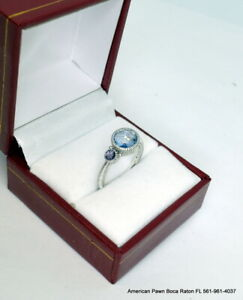 Judith Ripka Sterling Silver Two Stone Ring size 6.5 $49.00