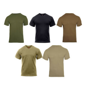 Rothco Solid Color Polyester Plain Army Military Outdoor Short Sleeve T Shirt $13.99