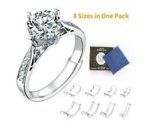 8 Pcs Ring Size Adjuster Invisible Clear Ring Sizer Jewelry Fit Reducer Guard US $5.89