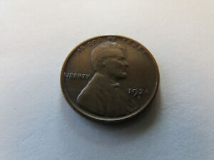1924 D Lincoln Wheat Cent Denver Mint Copper Penny Better Date 1c Coin Brown