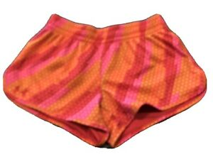 Womens Under Armour Shorts Heatgear Semi Fitted Running Athletic Sz S Pink Oran $12.00