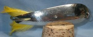 VINTAGE FISHING LURE HOPKINS 550 HAMMERED SPOON 6quot; long VERY CLEAN