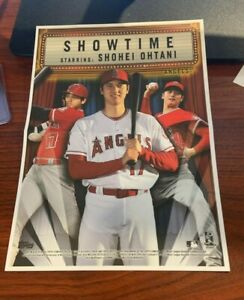 2020 Archives Box Topper Mini Poster Shohei Ohtani Showtime Los Angeles Angels $11.50
