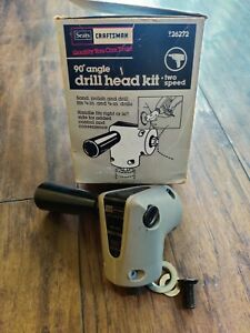 SEARS Craftsman Right Angle Drill Adapter 26271 3 8 90° 2 Speed $17.99