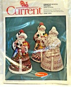 Current Father Christmas Santa Creative Sewing Kit Vintage Decoration Craft 1984 $10.00