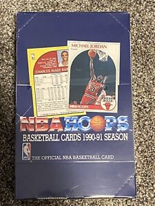 NBA Hoops Basketball 1990 1991 Series 1 Box Factory Sealed with 36 packs *NEW* $50.00