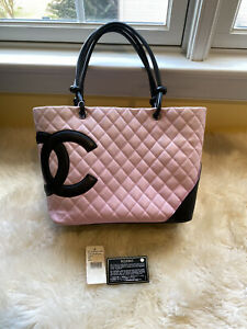 Chanel cambon large tote in pink $1685.00
