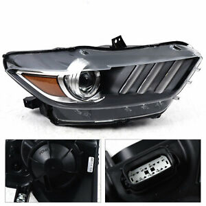 Right Projector Headlight HID Xenon LED Headlamp For Ford Mustang 2015 2017 USA $254.00