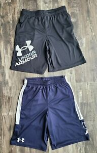 LOT of 2 Under Armour Shorts Boys Size YL 1 NWT 1 great condition $24.99