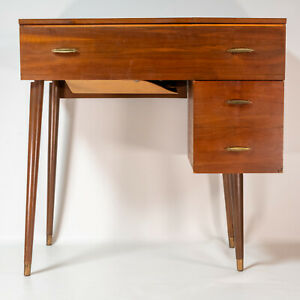 Gorgeous Mid Century Modern 1950s Singer Sewing Machine Table Cabinet Desk MCM $450.00