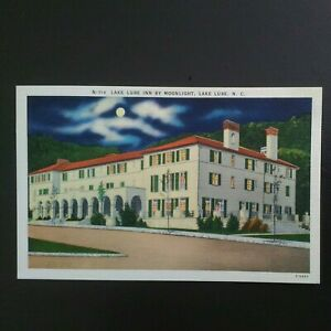 LAKE LURE NC * LAKE LURE INN by MOONLIGHT * UNPOSTED LINEN