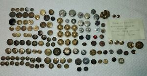 ANTIQUE VINTAGE MILITARY NAVY POLICE CITY SILHOUETTE LOT BUTTONS $60.00