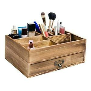 Liry Products Rustic Wooden Organizer Cosmetic Storage Cabinet Makeup Display $41.75