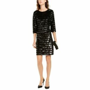 INC NEW Womens Striped Sequined Velour Cocktail Sheath Dress TEDO $13.58