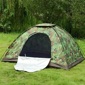 3 4 Person Outdoor Camping Waterproof 4 Season Folding Tent Camouflage Hiking US