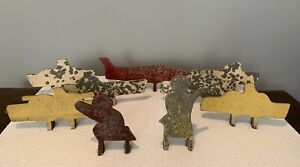 Group Of 9 Different Antique Shooting Gallery Targets Ships Soldiers Plane $695.00