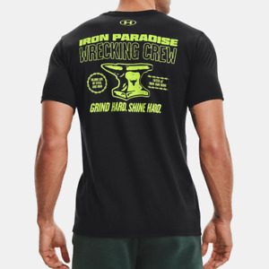 Under Armour Mens UA Project Rock Wrecking Crew Short Sleeve. Black $24.95