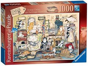 Jigsaw Puzzle CRAZY CATS GO SALVAGE HUNTING 1000 Pieces