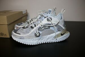 Pre owned USED Size 8.5 Nike ISPA Flow 2020 Pure Platinum