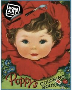 The Poppy's Coloring Book 1950 2017 Artimorean Vintage by Charlot Byj 013 $11.95