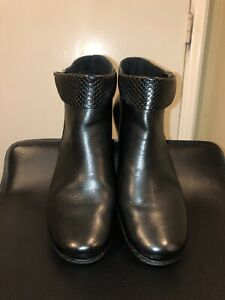Rieker Ankle Boots Womens Booties Size 40 Black Leather $49.99