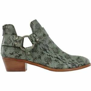 Frye Ray Harness Womens Booties Casual Low Heel 1 2 Size $89.99