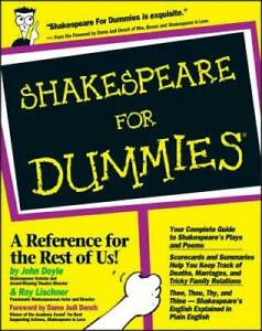 Shakespeare For Dummies Paperback By Doyle John ACCEPTABLE