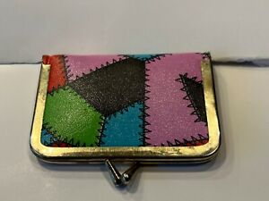 colorful vintage travel sewing kit with thread buttons and scissors $20.00