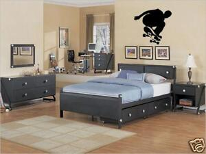 Skateboard Skater Boys Bedroom Kids Wall Art Decal