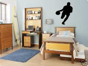 BASKETBALL Player Boys Bedroom Kids Wall Art Decal