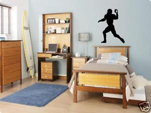 FOOTBALL Player Boys Bedroom Kids Wall Art Decal