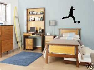 SOCCER Player Boys Bedroom Kids Wall Art Decal