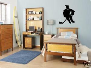 HOCKEY Player Boys Bedroom Kids Wall Art Decal