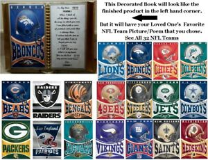 All 32 NFL Teams Personalized Book for Father#x27;s Day Birthday or Christmas Gift