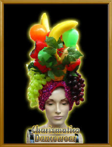 LADY LATIN FRUIT TROPICAL DRAG Miranda HEADDRESS HAT