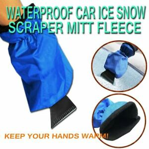 Zone Tech Waterproof Car Auto Ice Snow Scraper Mitt Glove For Window Windshield