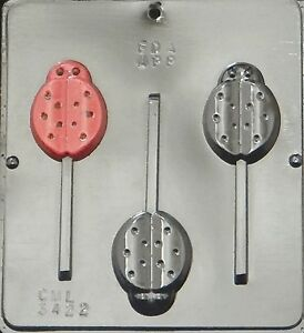 FREE SHIP NEW 3 Cav Insect LADYBUG Choc Candy Fondant Plaster Clay Lolly Mold