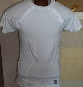NIKE PRO COMBAT DRI-FIT COMPRESSION HYPERSTRONG MEN'S SHIRT WHITE 373113 3XL NWT