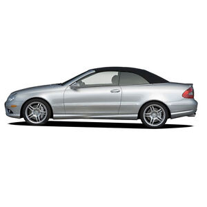 Mercedes CLK W209 2004-2009 Convertible Soft Top Replacement Black Stayfast