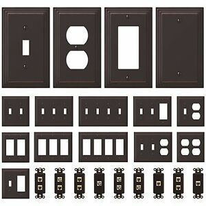 NEW Switch Plate GFI Outlet Cover Wall Rocker Oil Rubbed Bronze Finish
