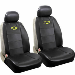 Elite Original Black Synthetic Leather Sideless Seat Covers for Chevy Chevrolet