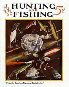Large Mouth Bass Vintage Magazine Cover Fishing  Poster Art  Fishing Lures MAG07