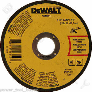 50pc Dewalt DWA8051 Metal Cut Off Wheel 4-1/2 x 7/8 x .045