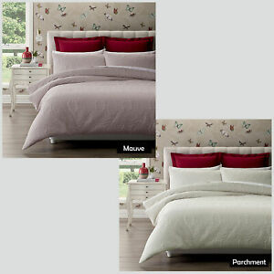 WEDDING RING Parchment Mauve - Quilted Quilt Cover Set- SINGLE DOUBLE QUEEN KING